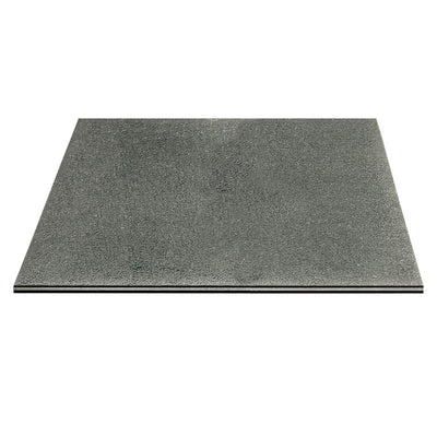 "Crackled 28"" Square End Table Top in Smoke Grey"