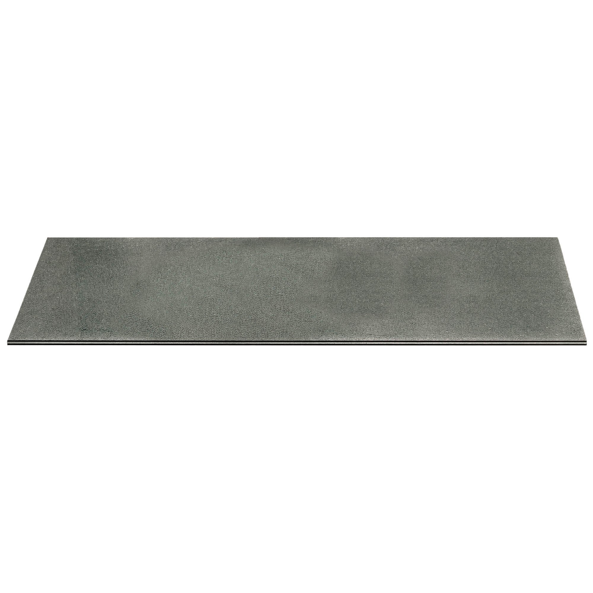 "Crackled 59"" x 20"" Console Table Top in Smoke Grey"
