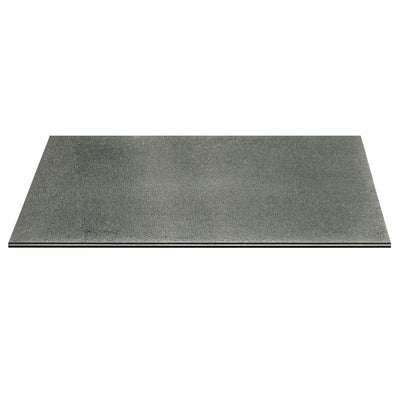 "Crackled 84"" x 44"" Large Dining Table Top in Smoke Grey"