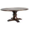"Devon 54"" Round Extension Dining Table in Rustic Java"