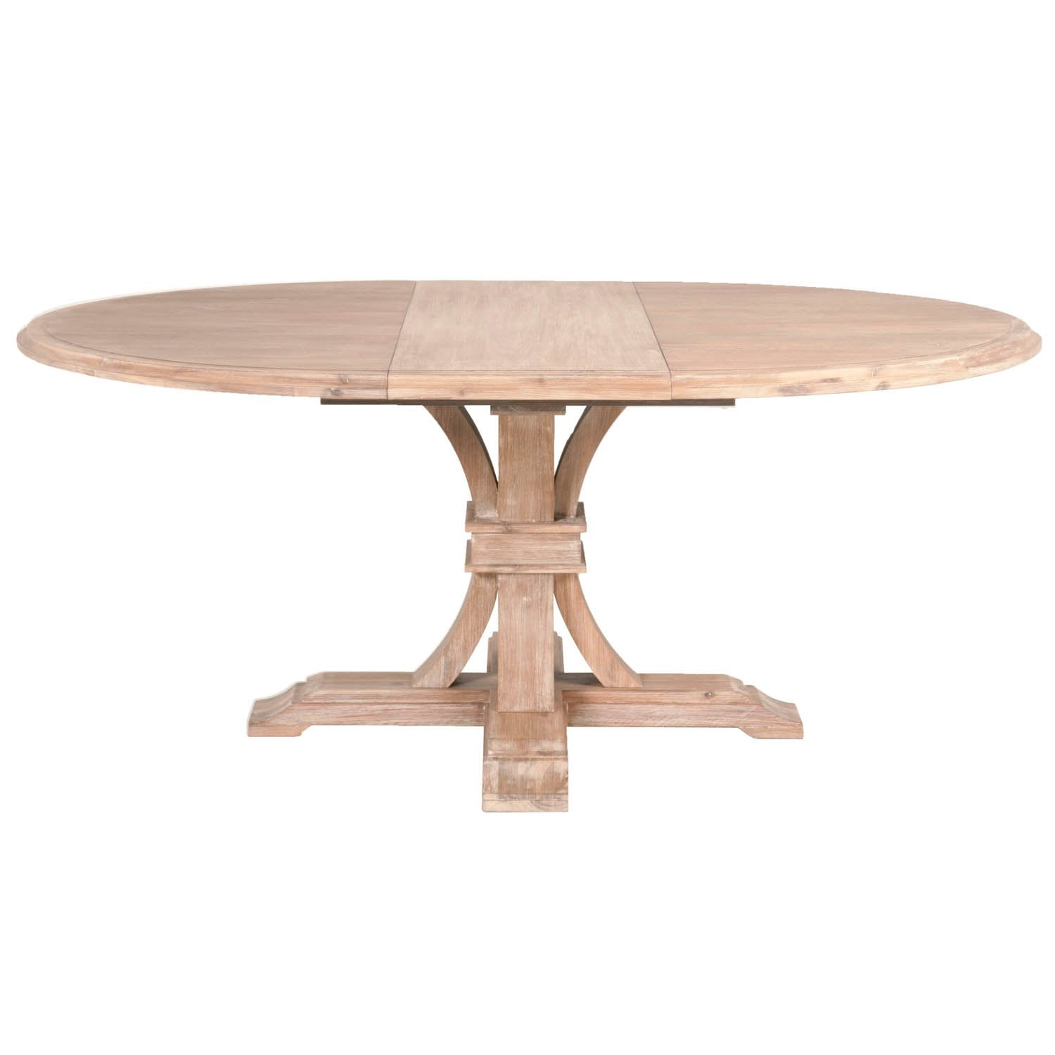 "Devon 54"" Round Extension Dining Table in Stone Wash"