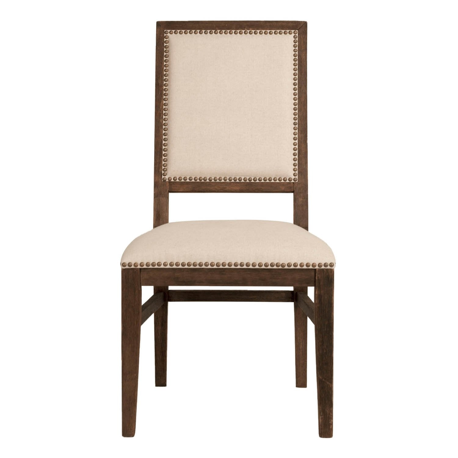 Dexter Dining Chair (Set of 2) in Natural Fabric,  Rustic Java