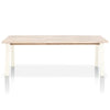 Diego Outdoor Dining Table Base in White Aluminum