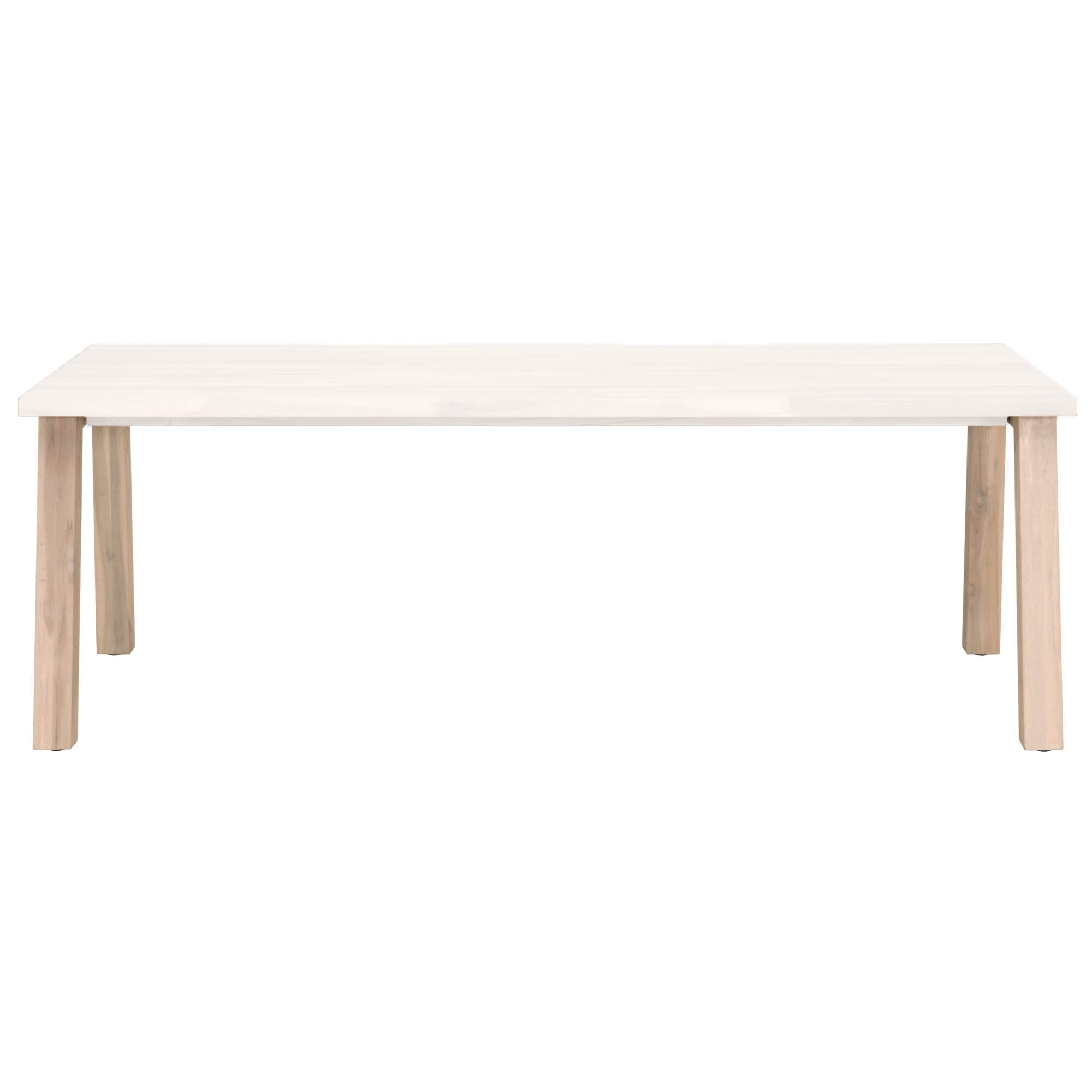 Diego Outdoor Dining Table Base in Gray Teak