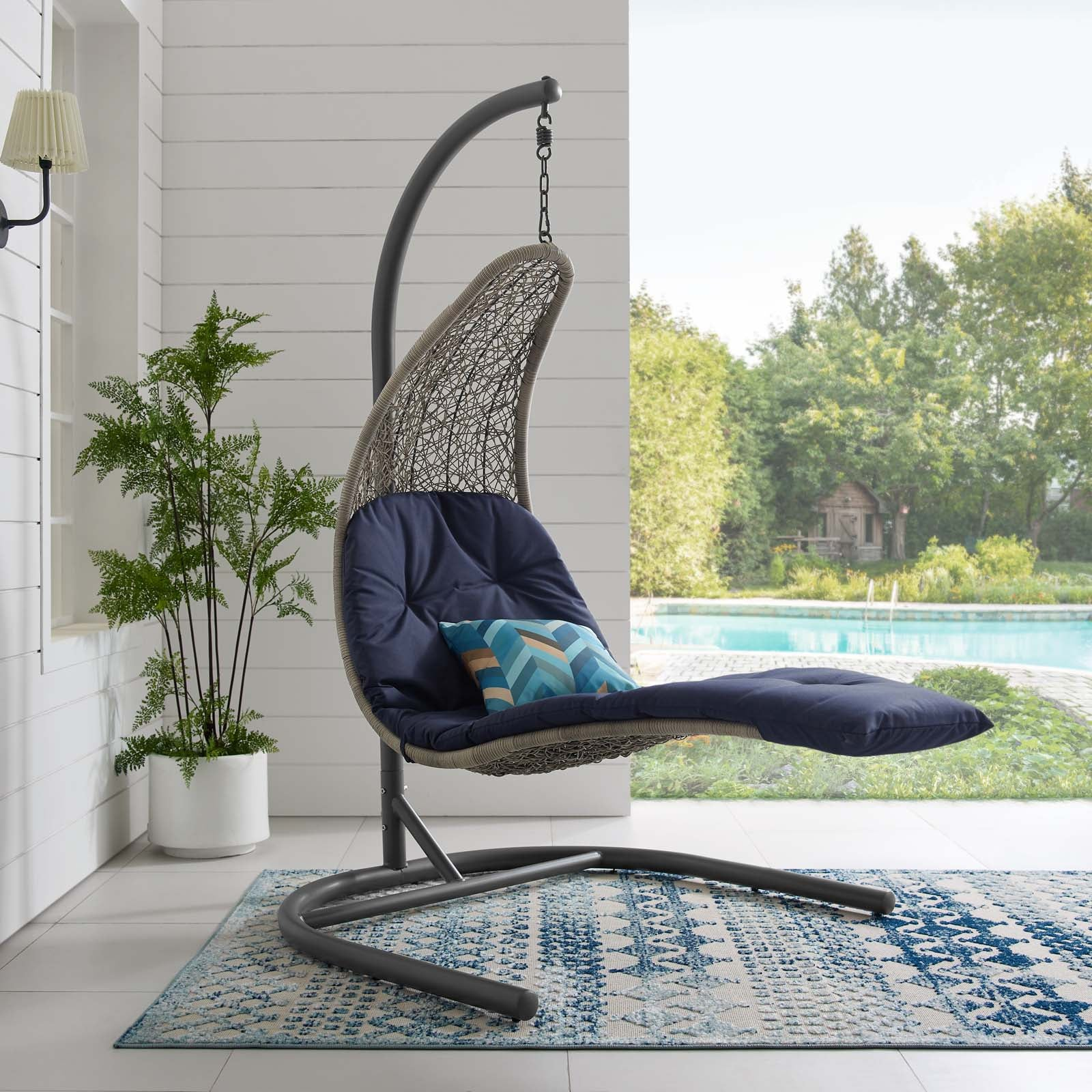 Chaise Lounge Outdoor Patio Swing Chair