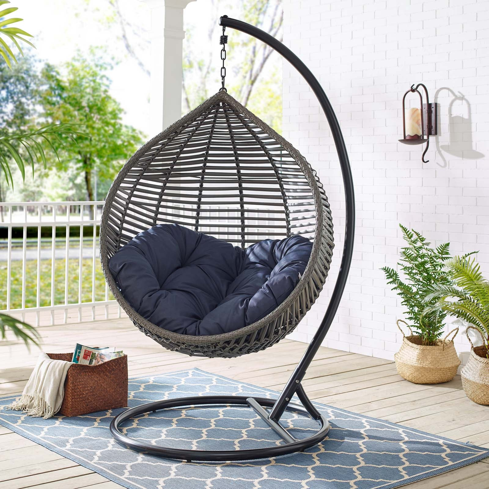 Tear Drop Outdoor Patio Swing Chair