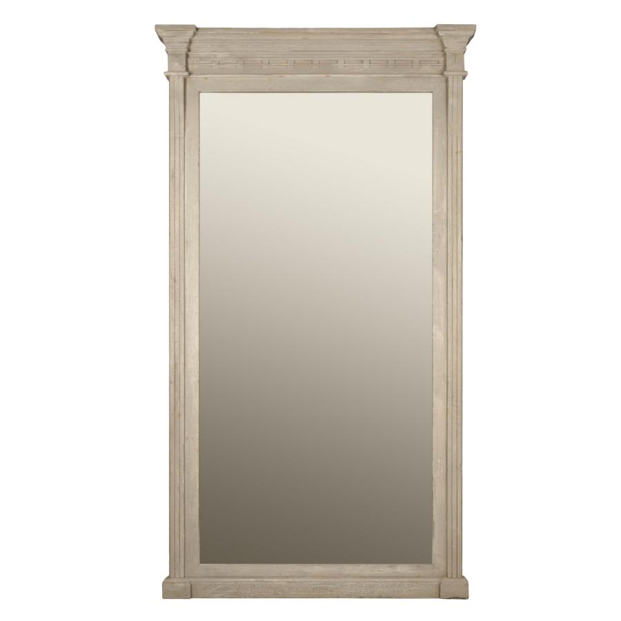 Estate Floor Mirror in Antique Gray Pine