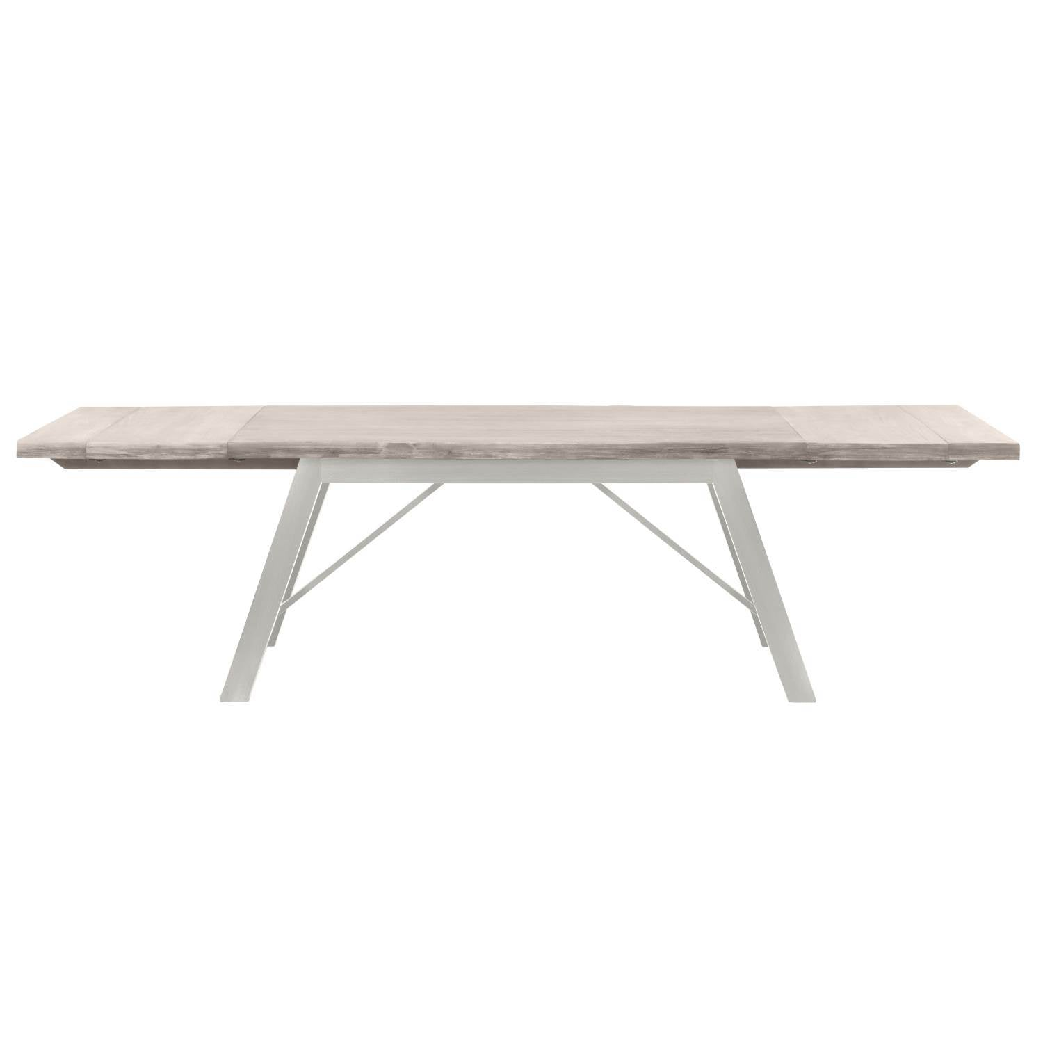 Grayson Extension Dining Table in Natural Gray