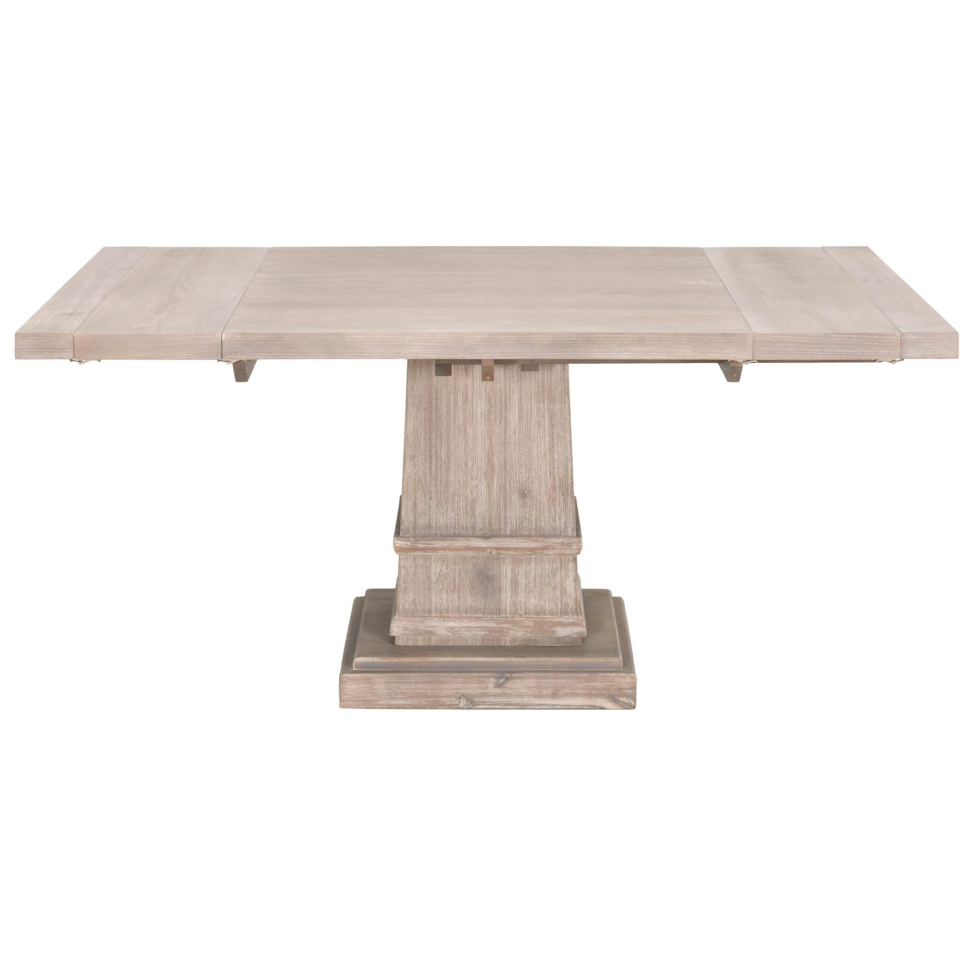 "Hudson 44"" Square Extension Dining Table in Natural Gray"