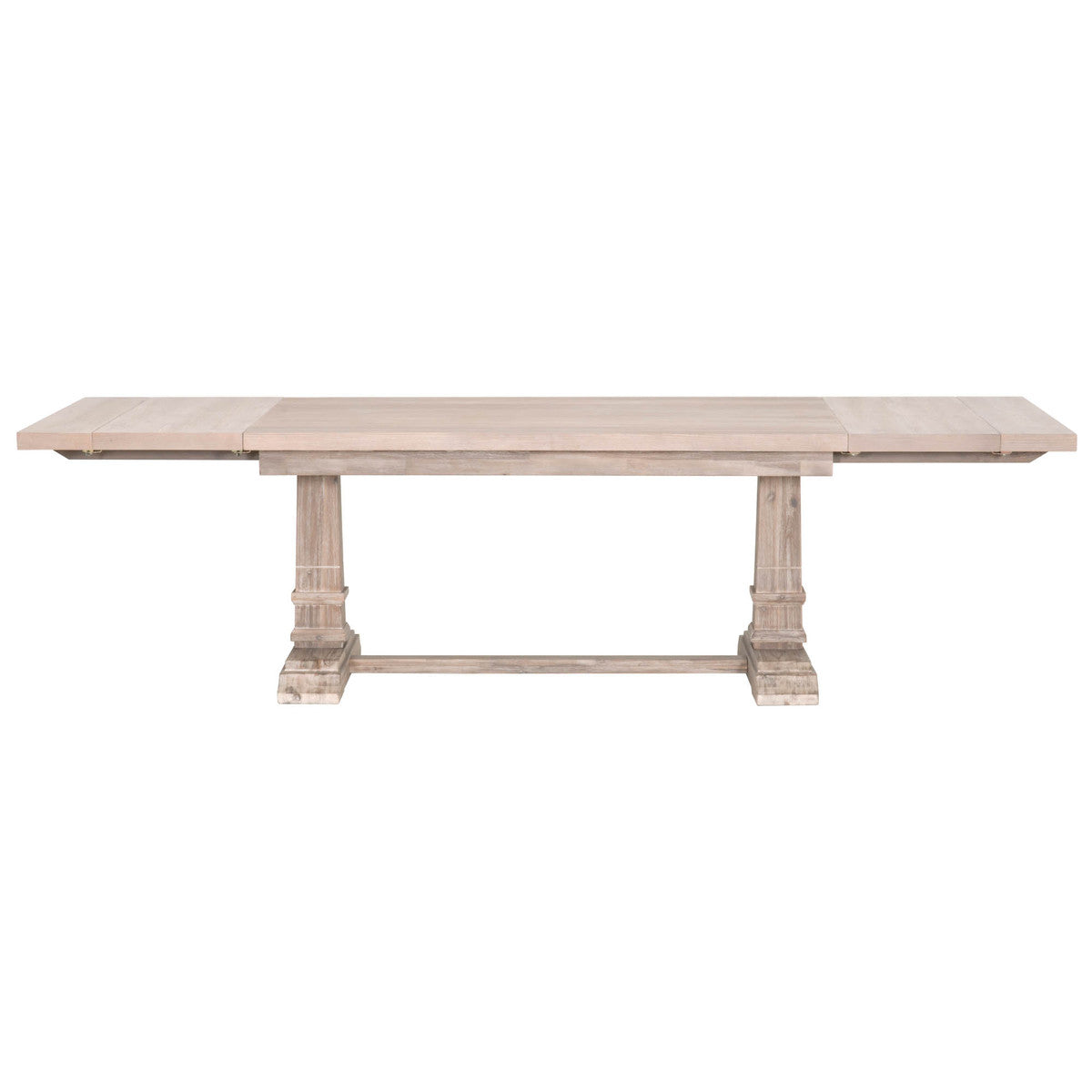 Hudson Rectangle Extension Dining Table in Natural Gray