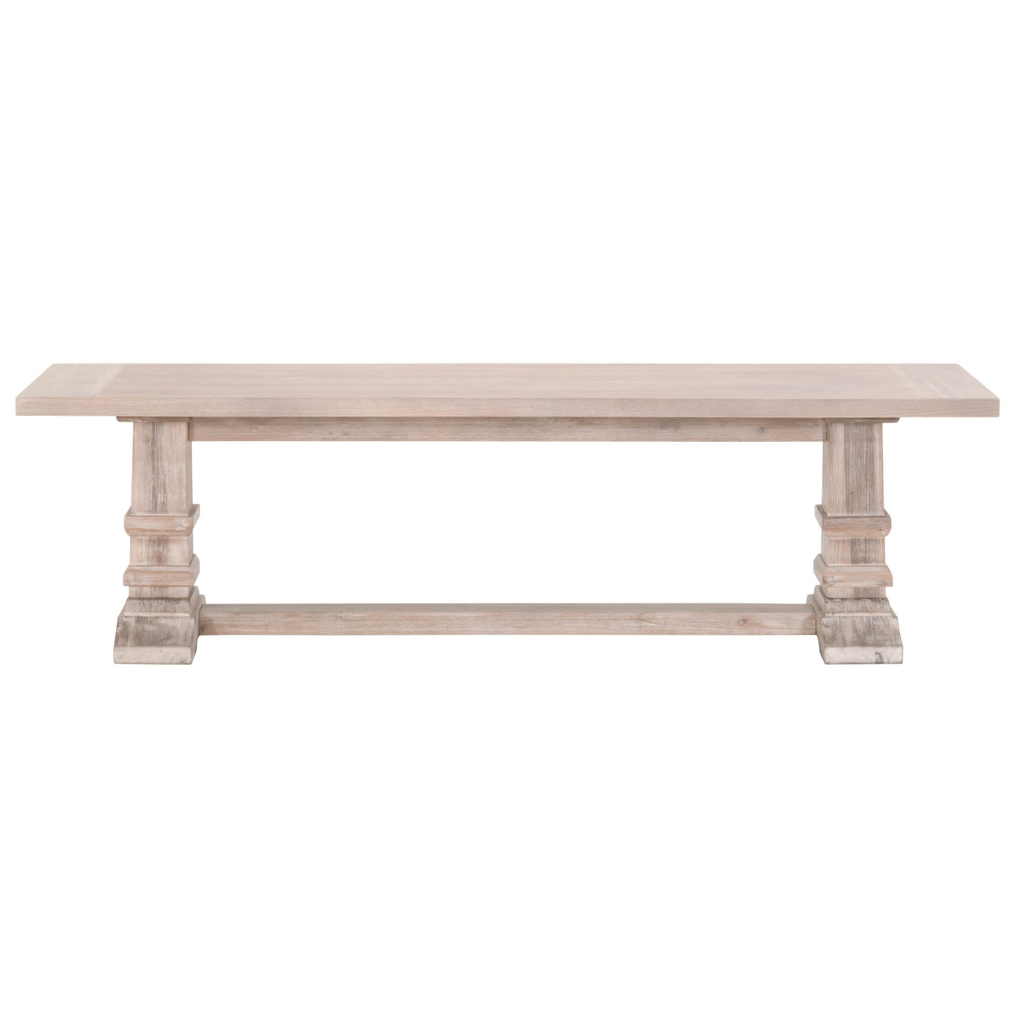 Hudson Large Dining Bench in Natural Gray
