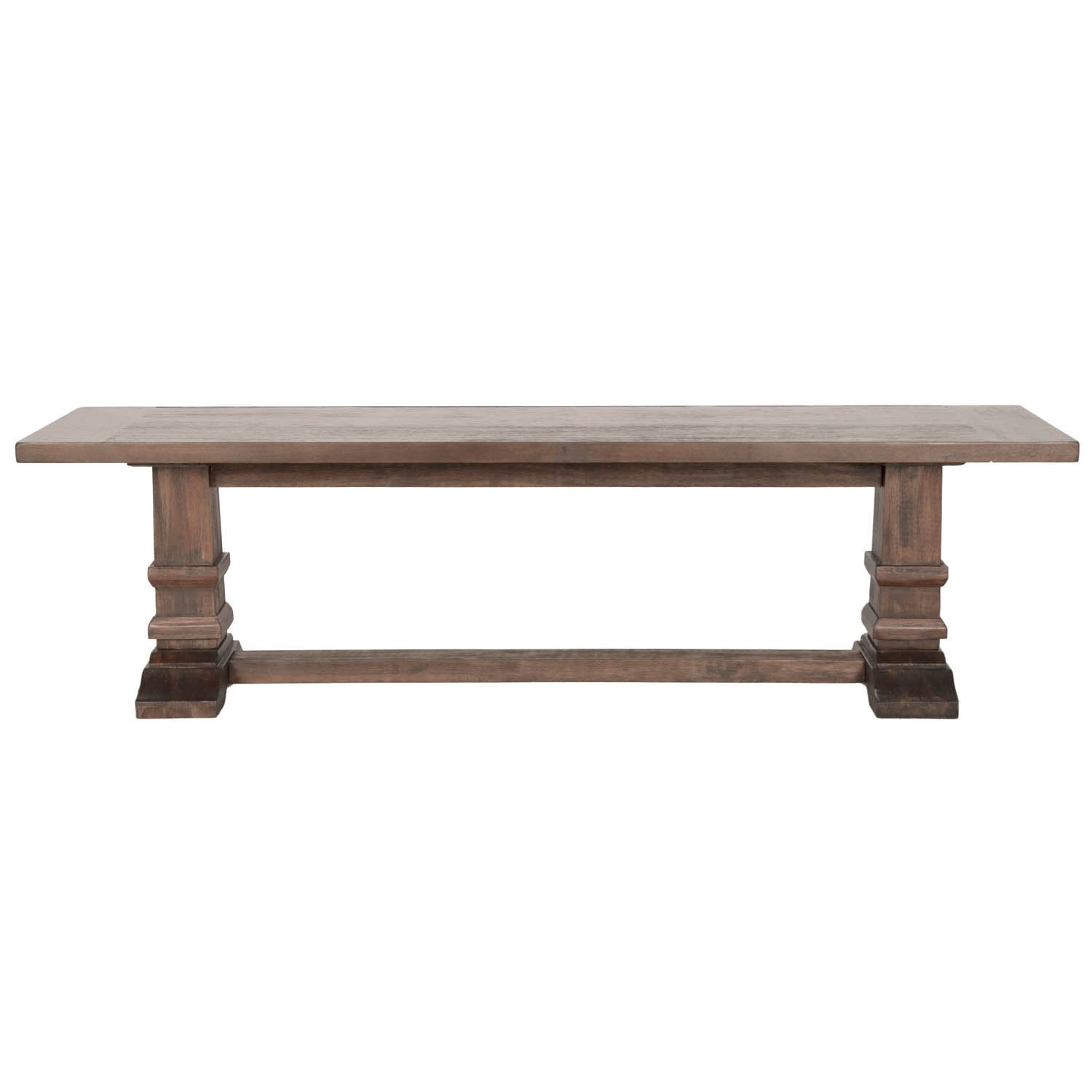 Hudson Large Dining Bench in Rustic Java