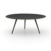 Trula Round Coffee Table - Rubbed Black