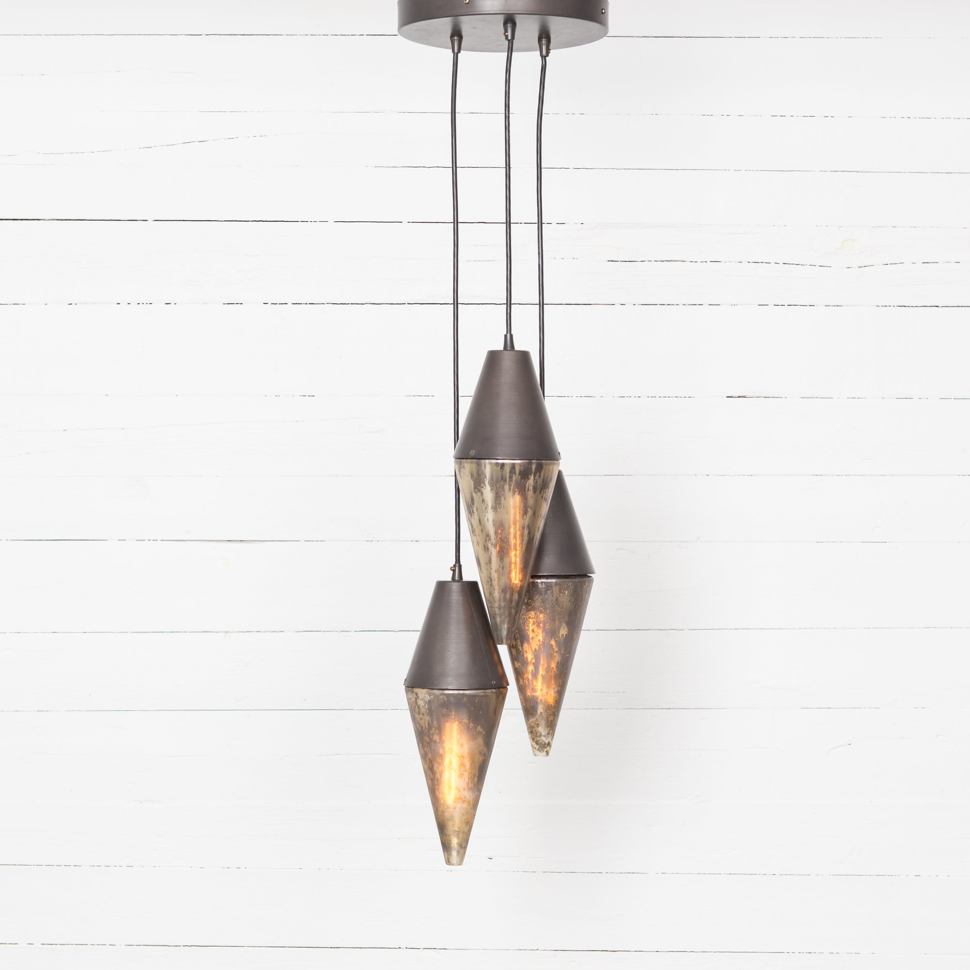 Cora Pendant - Distressed Mercury