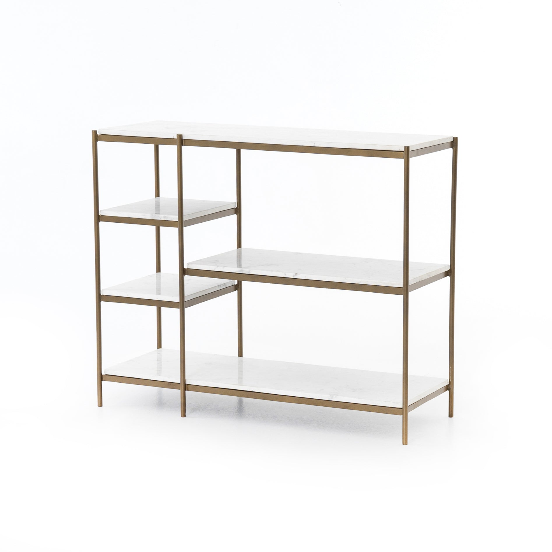 Lily Console Table - Antique Brass