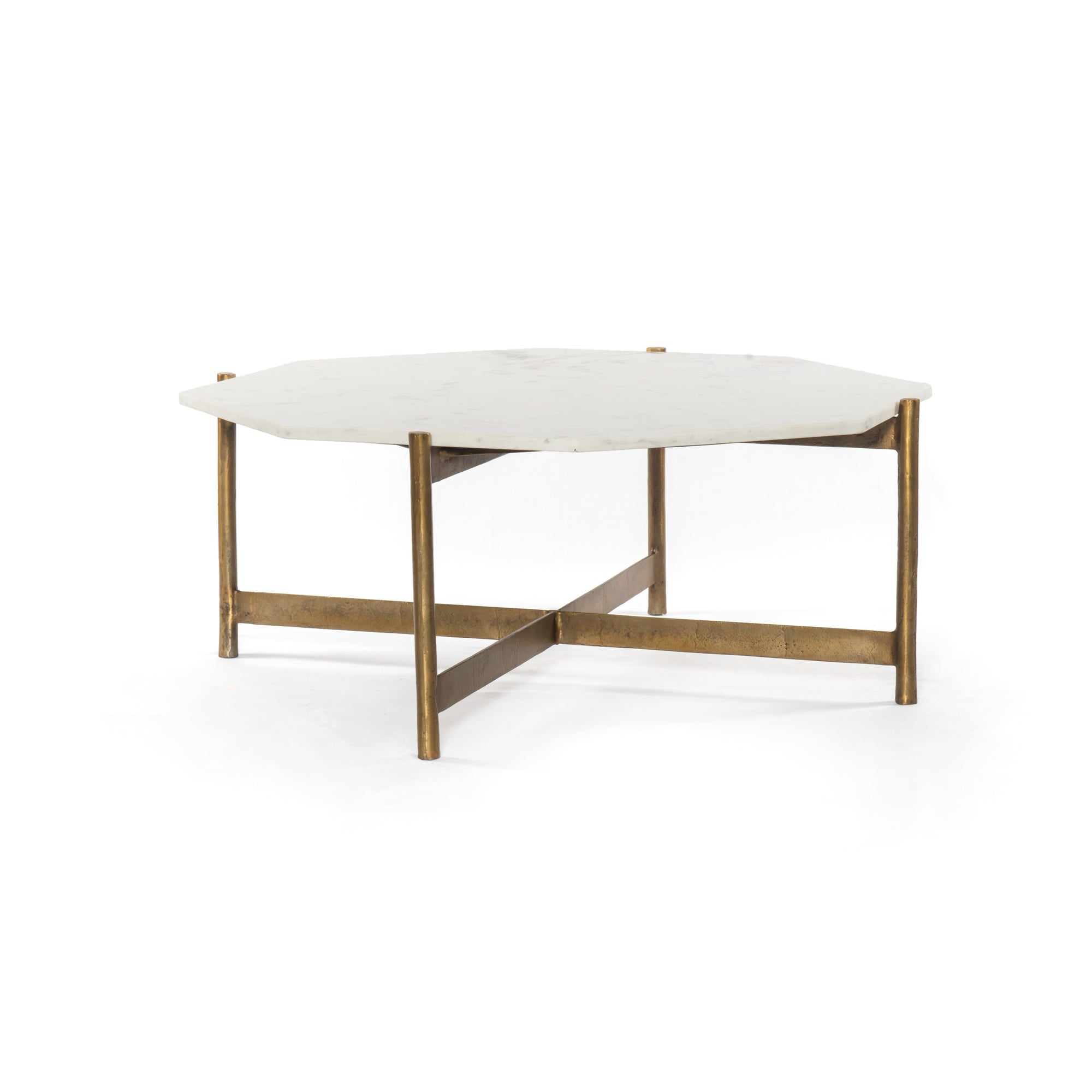 Adair Coffee Table - Raw Brass