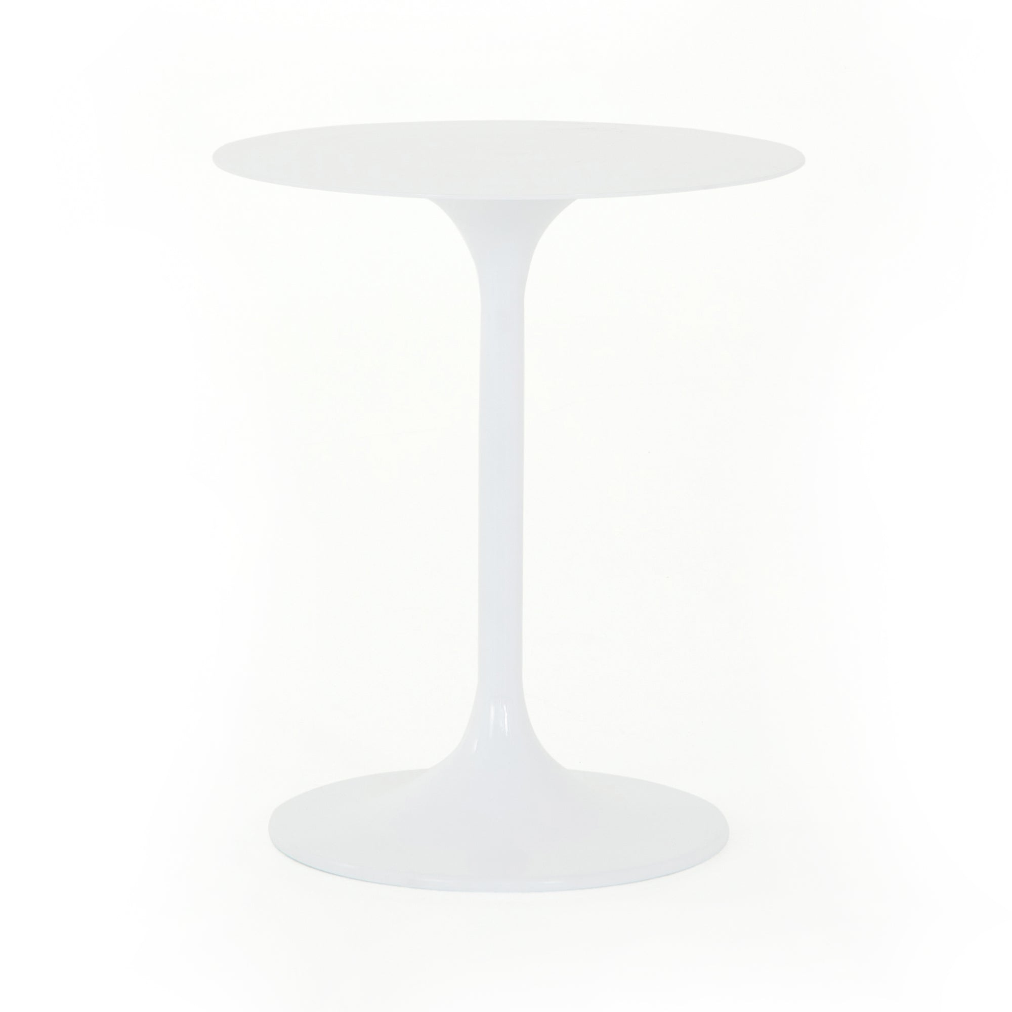Tulip Side Table - White Aluminum