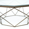 Geometric Coffee Table - Antique Brass