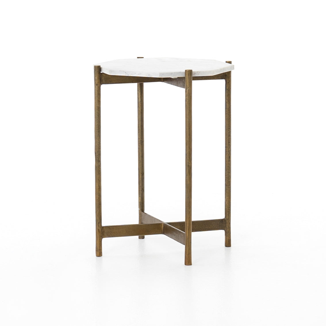 Adair Side Table - Raw Brass