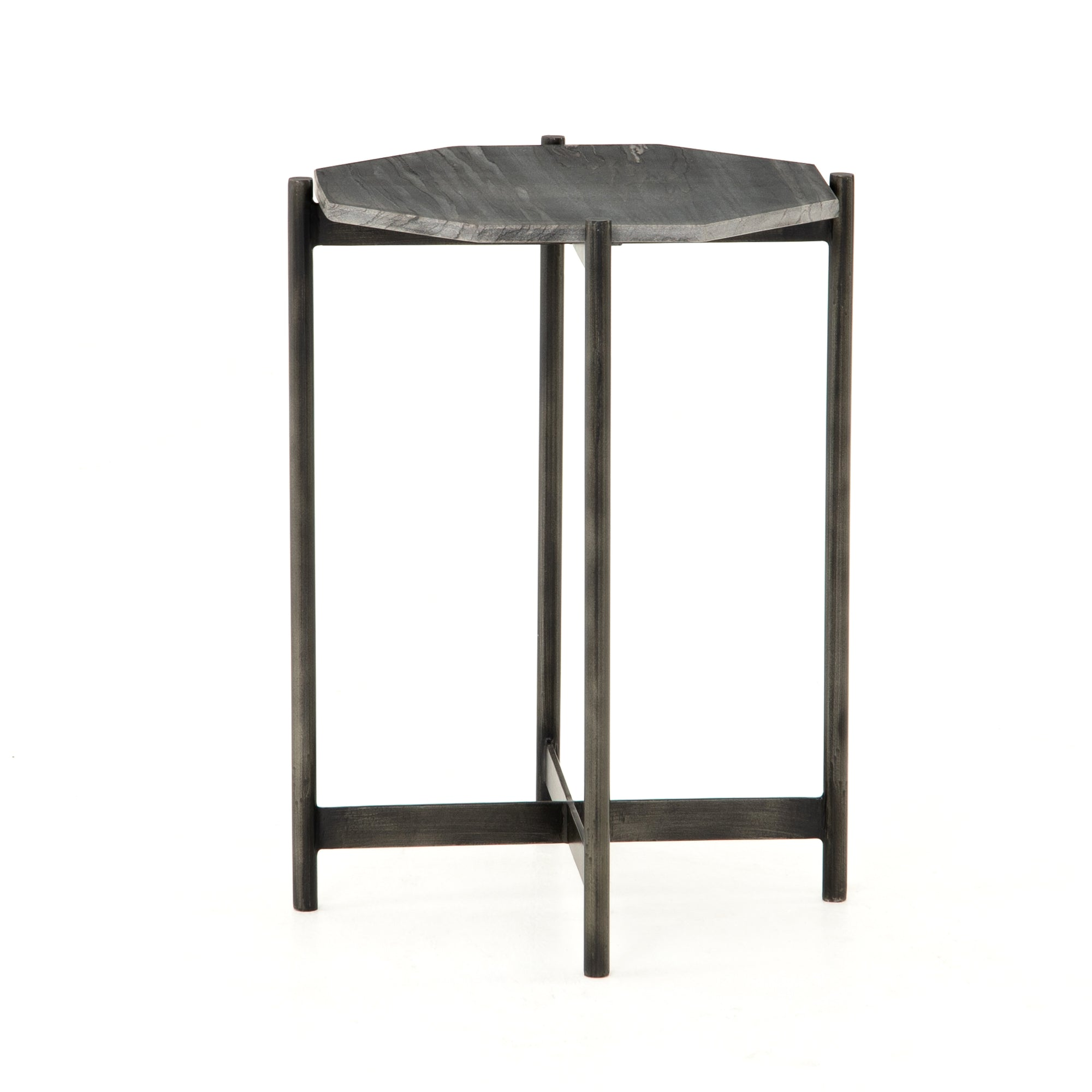 Adair Side Table - Ebony Marble