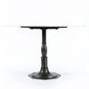 Lucy Round Dining Table - Marble/Carbo