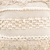 Braided Fringe Pouf - Cream