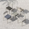 Atherton Outdoor Dining Chair - Grey/Stone
