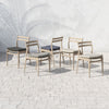 Atherton Outdoor Dining Chair - Brown/Navy