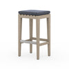 Dale Outdoor Bar Stool - Brown/Faye Navy