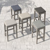 Dale Outdoor Counter Stool - Grey/Charcoal