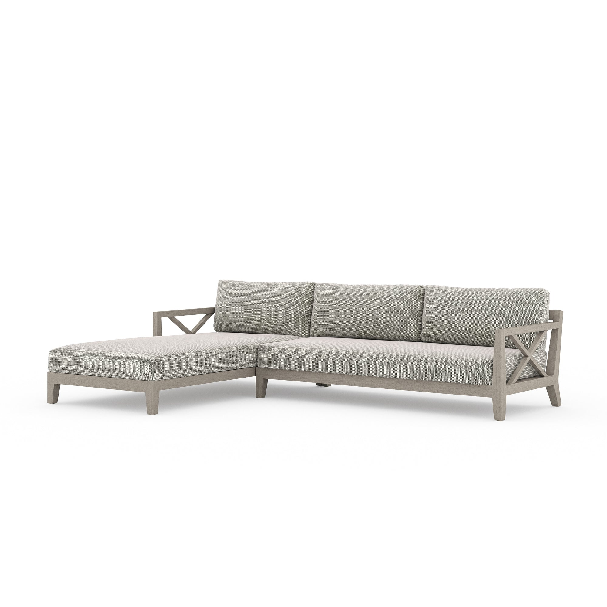 Huntington 2 Pc Laf Sectional - Grey/Navy