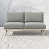 "Tilly Outdoor Sofa - 60"" - Brown/Faye Ash"