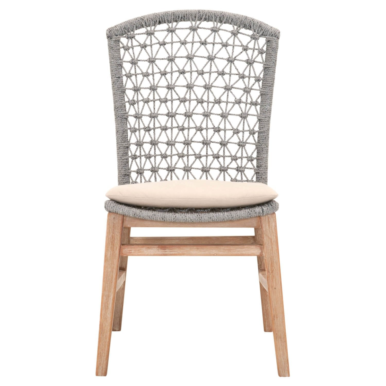 Lace Dining Chair (Set of 2) in Platinum Rope