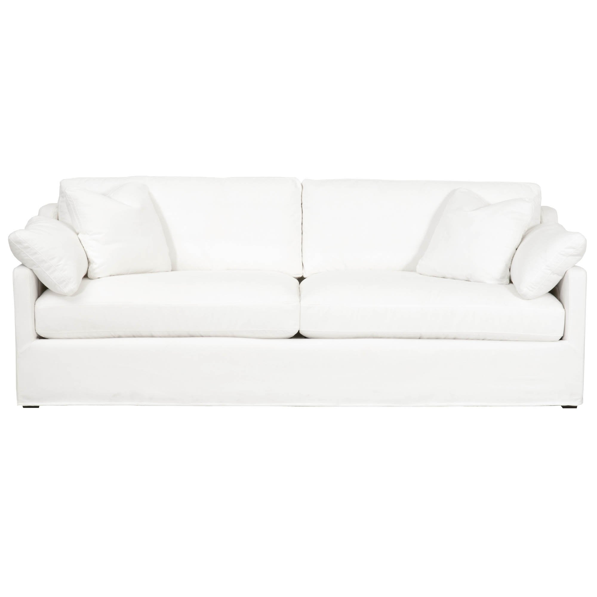 "Lena 94"" Slope Arm Slipcover Sofa"