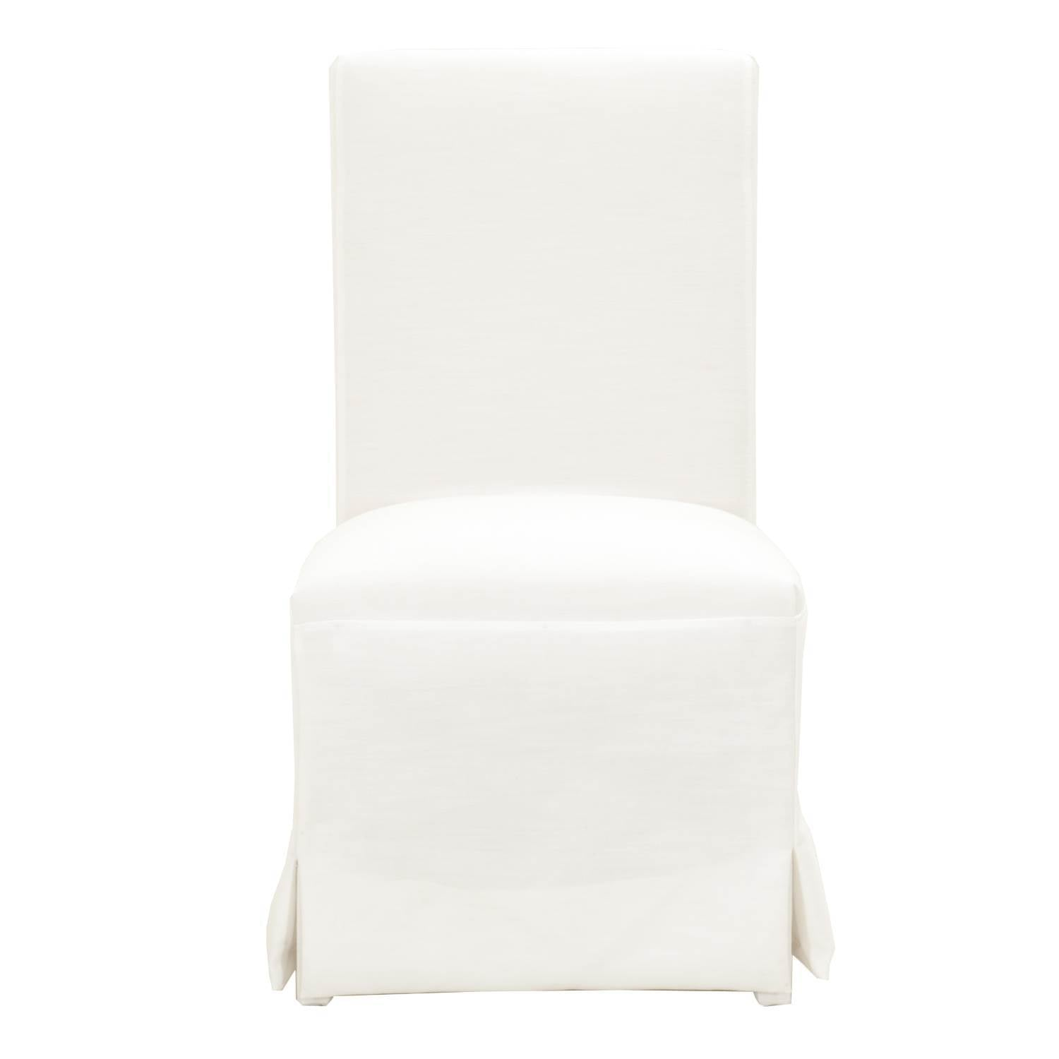 Levi Dining Chair Set Of 2 In Pure White Fabric Peter Andrews