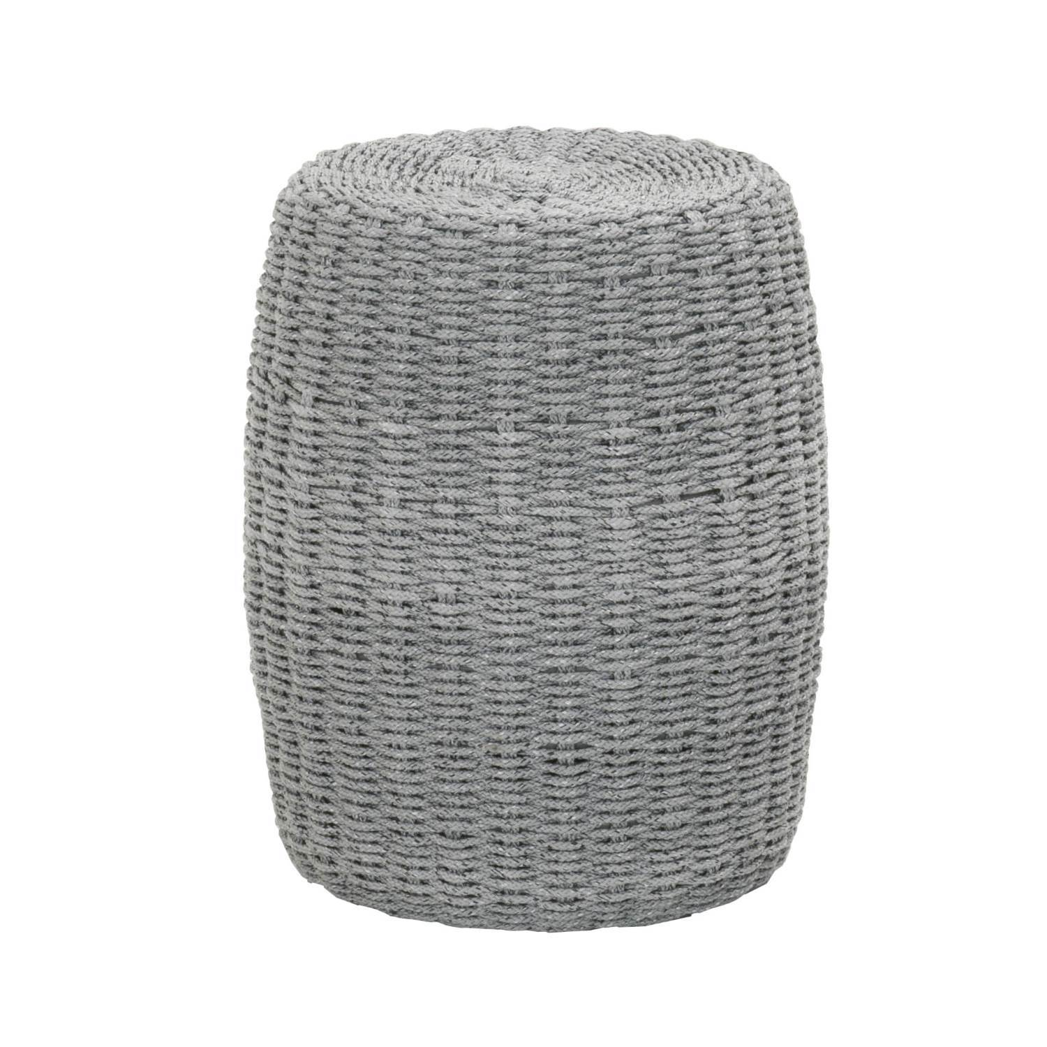 Loom Accent Table in Platinum Rope