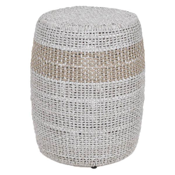 Loom Accent Table in Taupe Stripe