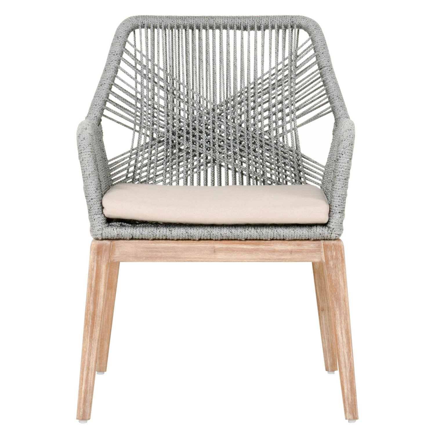 Loom Arm Chair (Set of 2) in Platinum Rope
