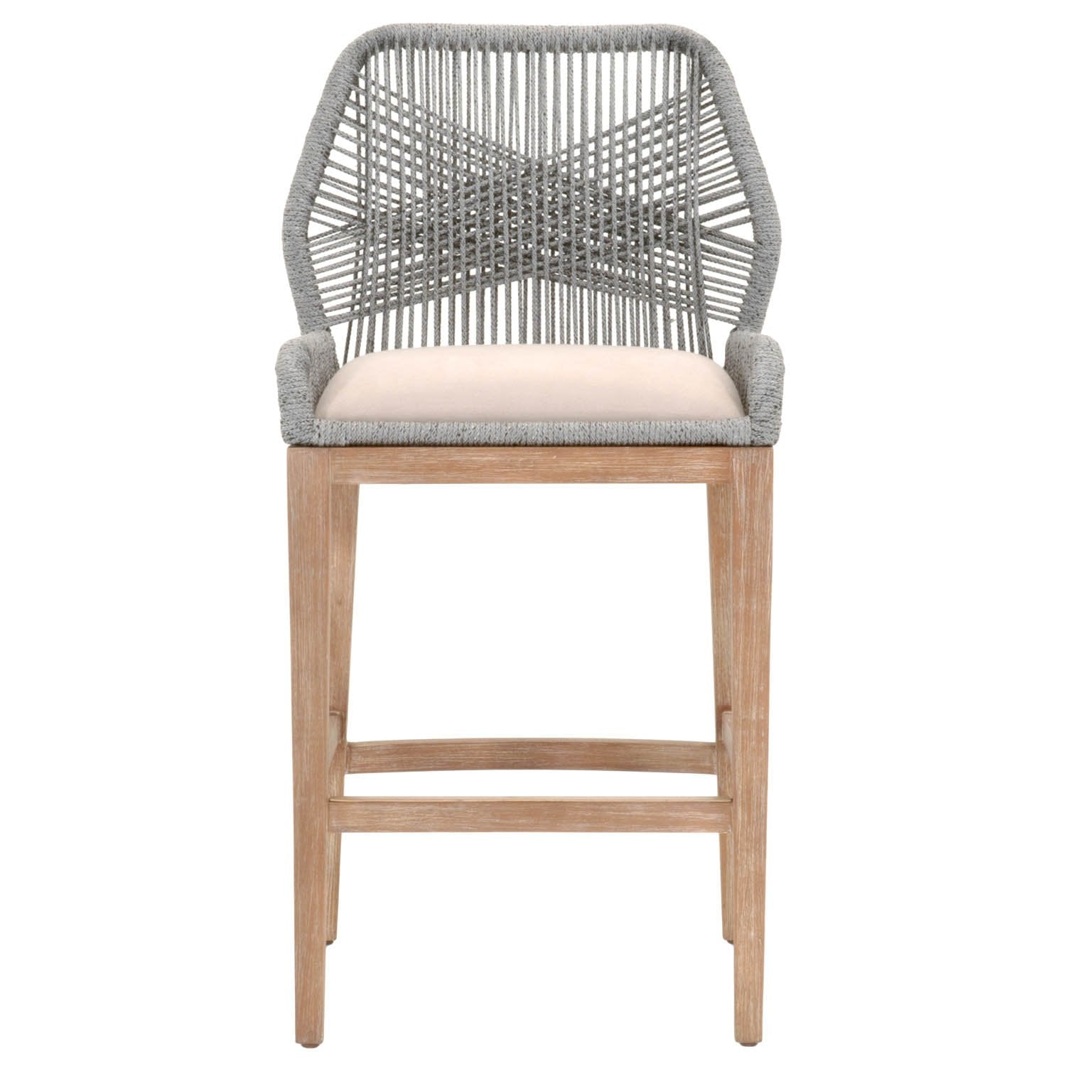 Loom Barstool in Platinum Rope