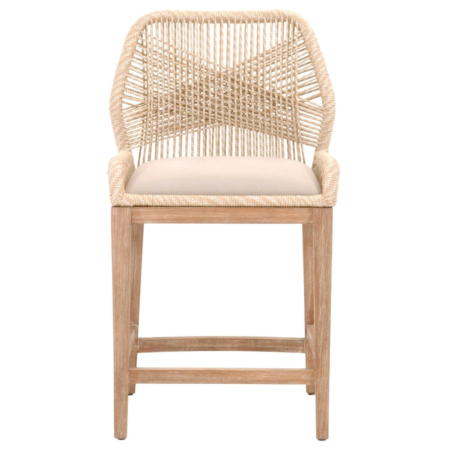 Loom Counter Stool in Sand Rope