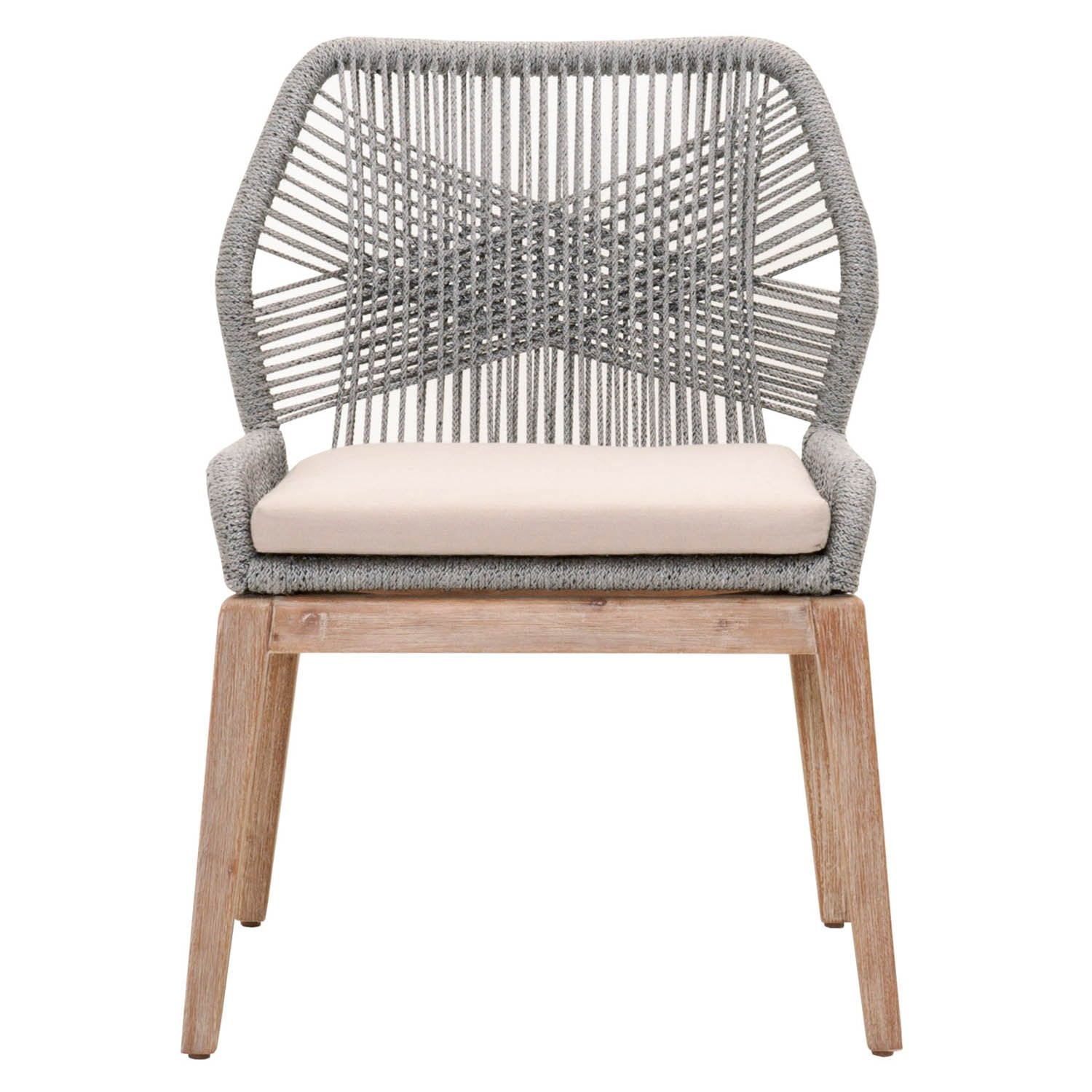 Loom Dining Chair (Set of 2) in Platinum Rope