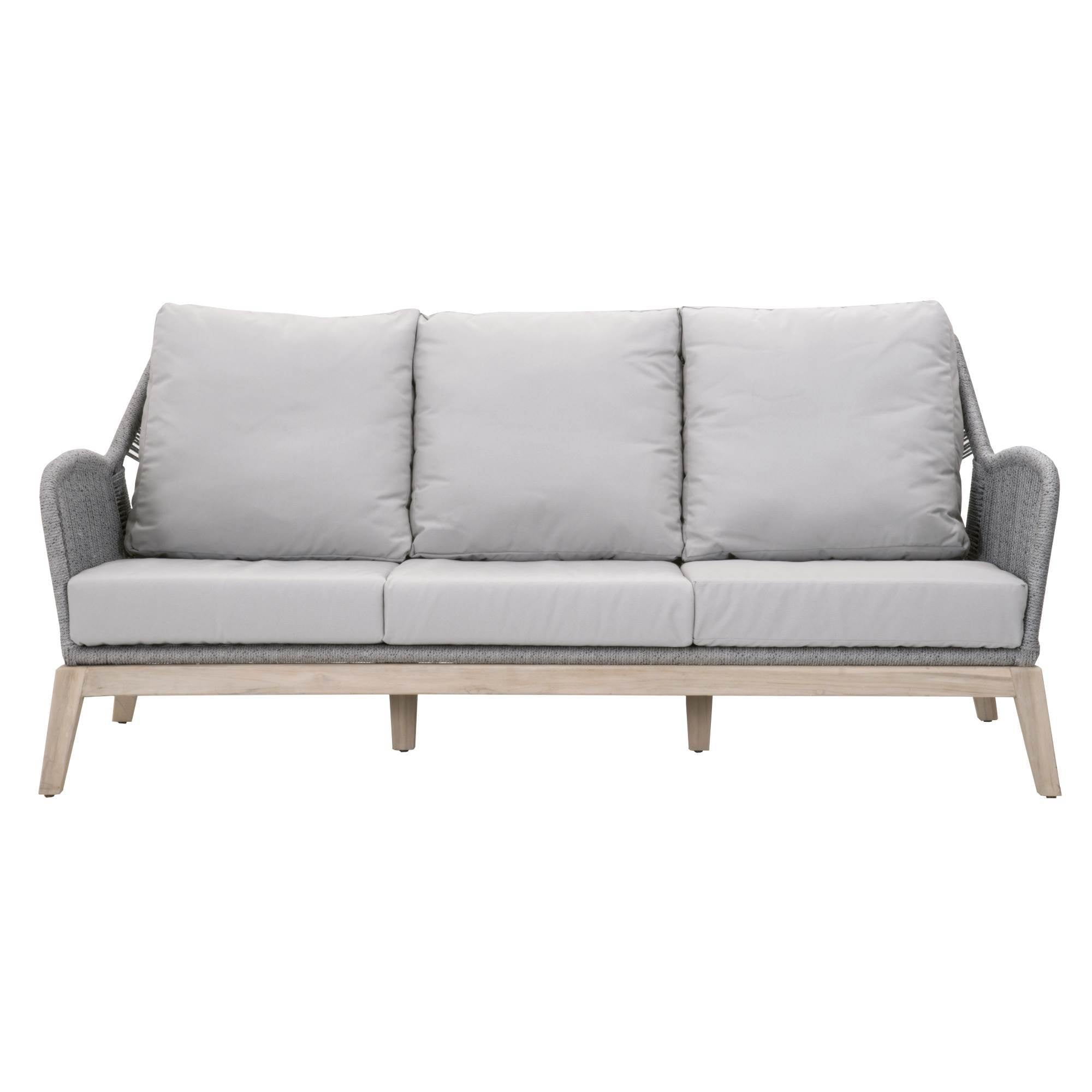 "Loom Outdoor 79"" Sofa in Platinum Rope"