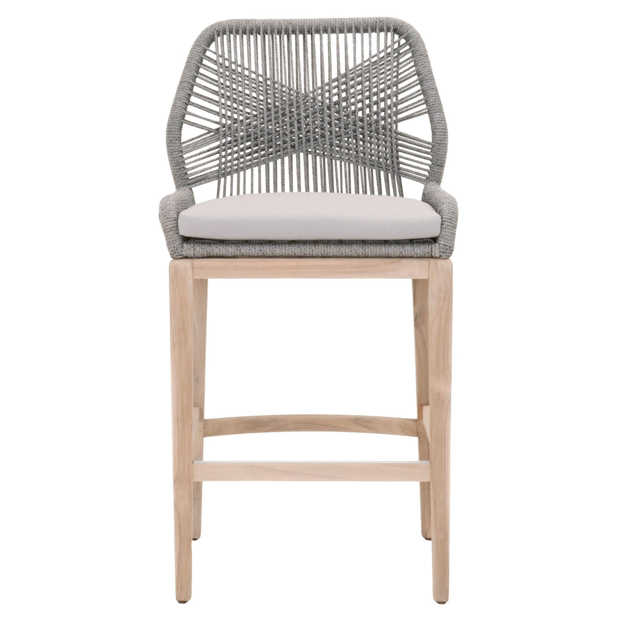 Loom Outdoor Barstool in Platinum Rope