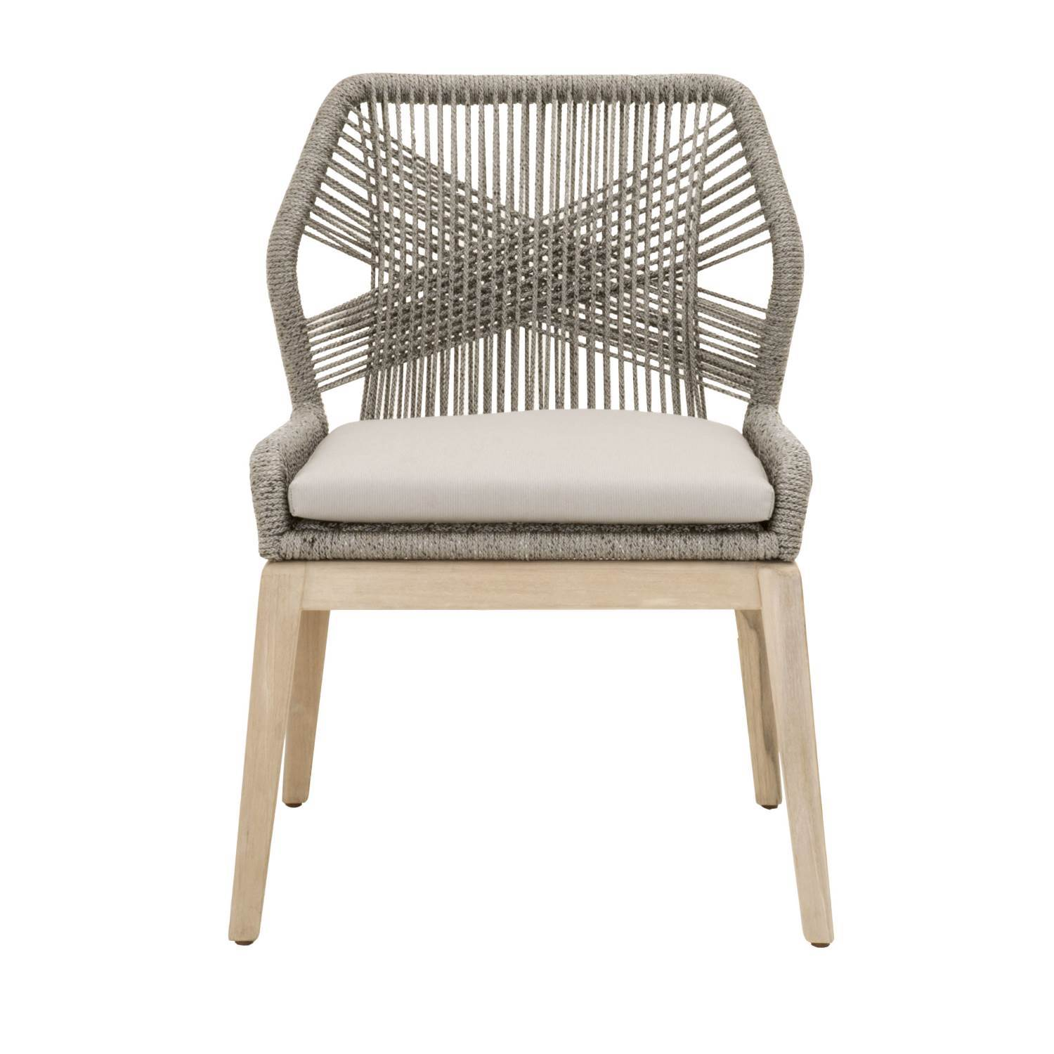 Loom Outdoor Dining Chair (Set of 2) in Platinum Rope