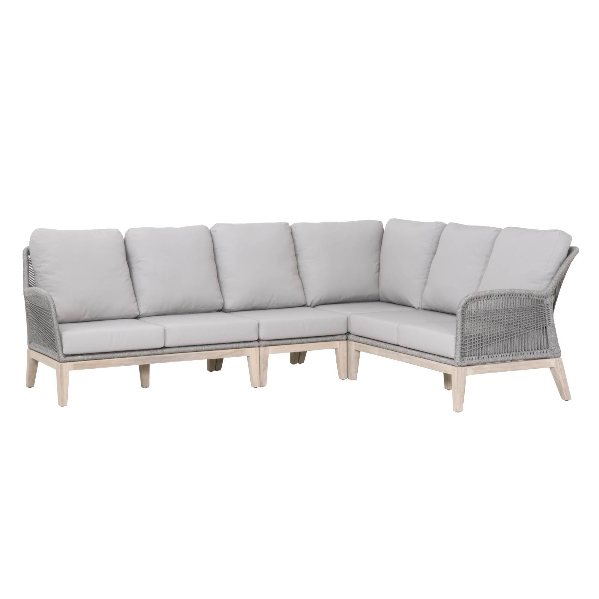 Loom Outdoor Modular LF 2-Seat Sofa in Platinum Rope