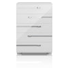 Lustro High Chest in White High Gloss Chrome Foil Trim
