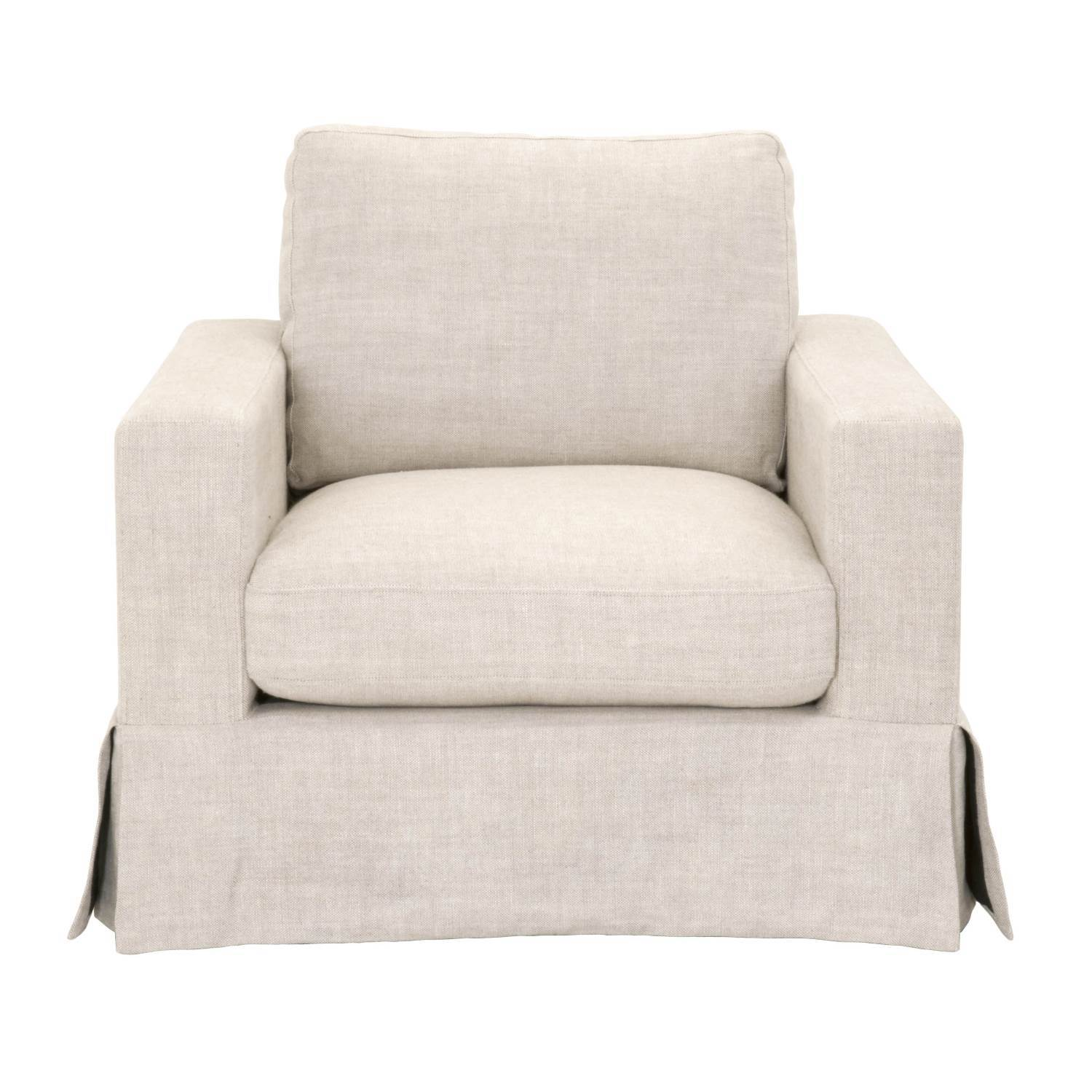 Maxwell Sofa Chair in Bisque French Linen