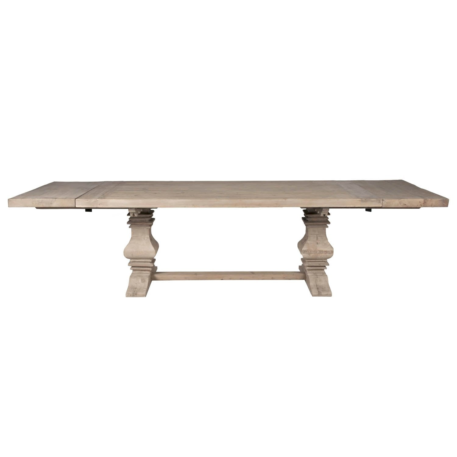 Monastery Extension Dining Table in Smoke Gray Pine