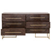 Mosaic Double Dresser in Rustic Java