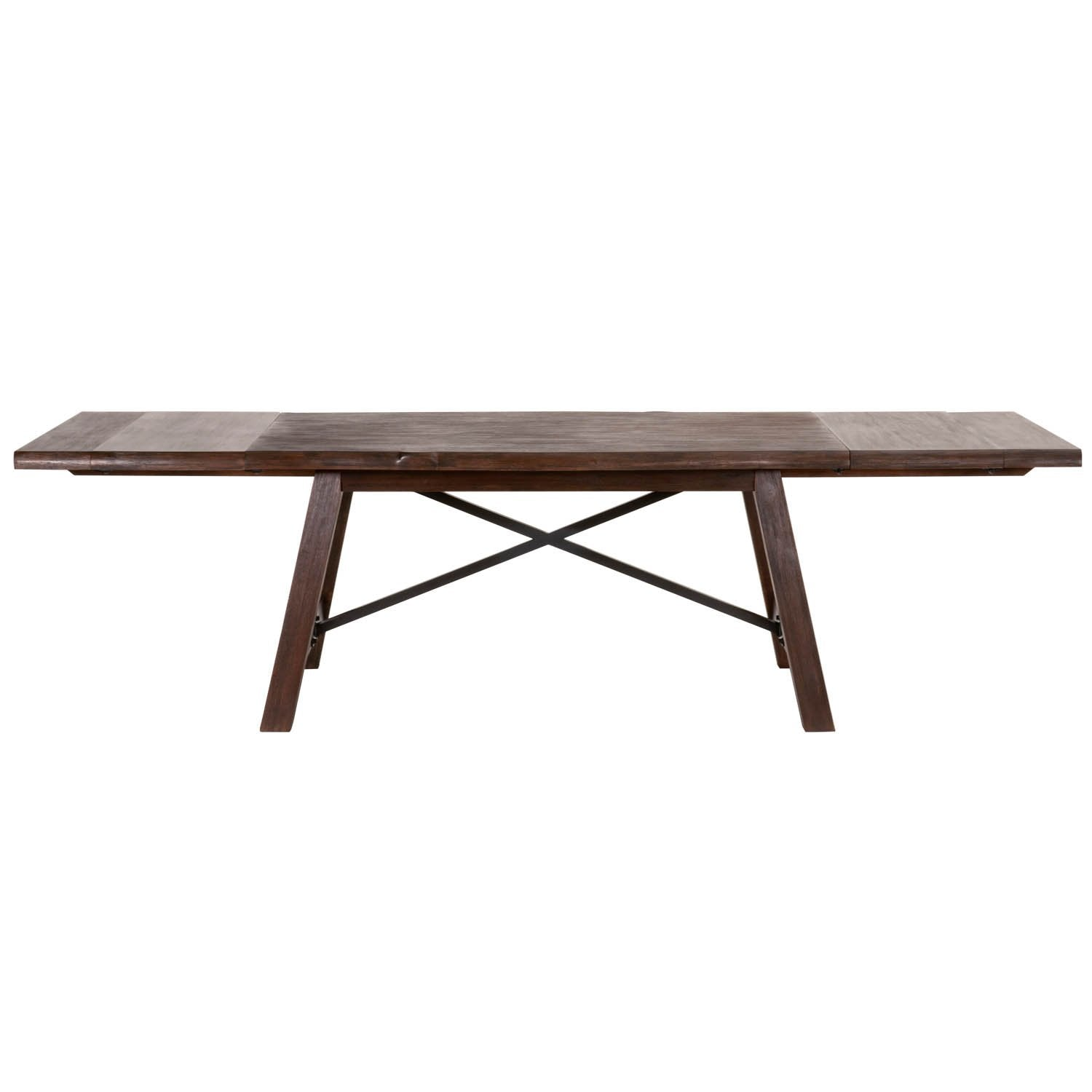 Nixon Extension Dining Table in Rustic Java